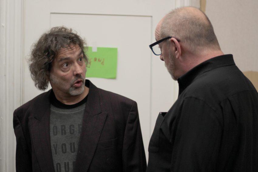 Fidele Horst probt das neue Stück. v.l. Ralf Löchel und Dietmar Kraschewski.