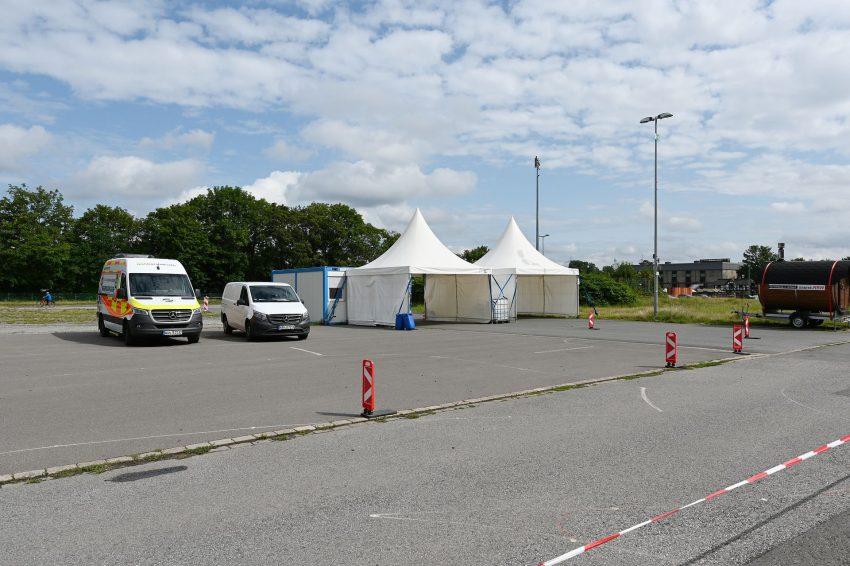 Statt Bayernzelt gibt's Test-Zelt.