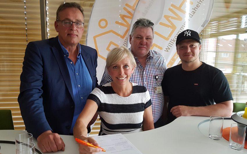 v.l. Jürgen Schubert, Simone Hitzler, Klaus Karger, Nils Liesegang.