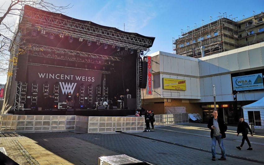Die Bühne für Wincent Weiss.