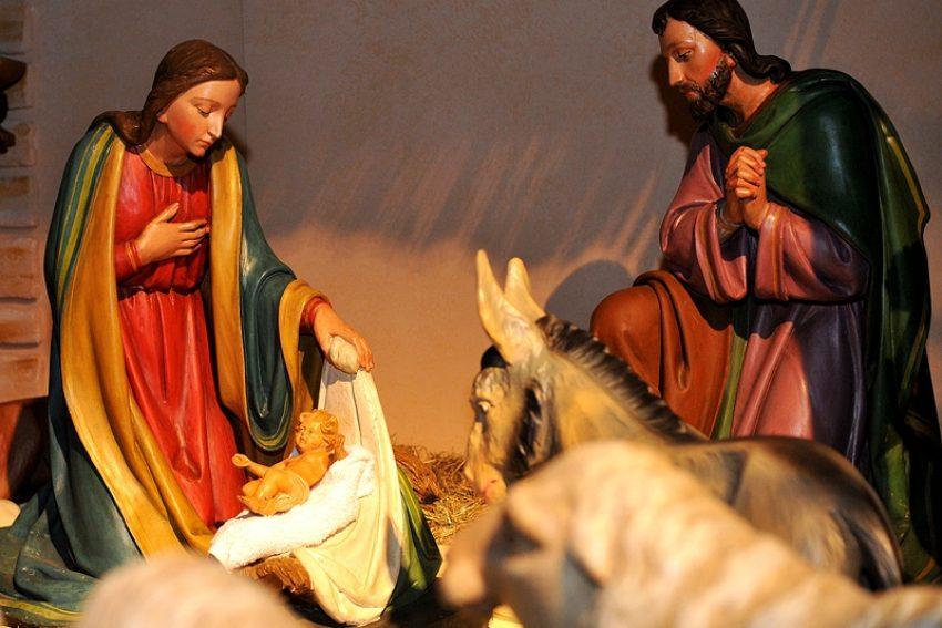 Krippe in der Kirche St. Peter und Paul.