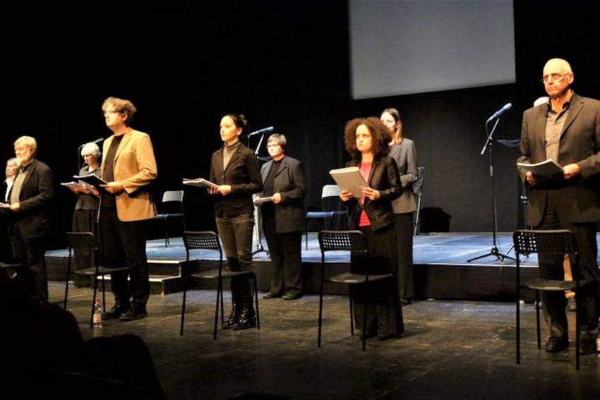 """Das Theater Gegendruck gastiert am 21. November in der Künstlerzeche Unser Fritz mit dem Oratorium """"Die Ermittlung"""" von Peter Weiss."""
