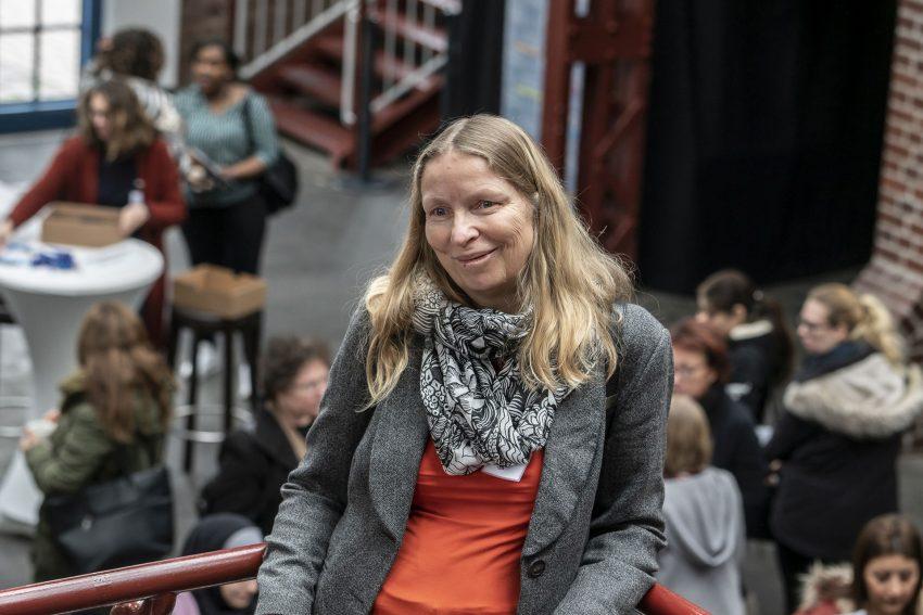 Frauen-Job-Infobörse in den Flottmannhallen: Ulrike Hammerich.
