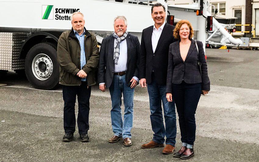 v.l. Peter Brauer, Volker Bleck, Udo Sobieski, Manuela Lukas.