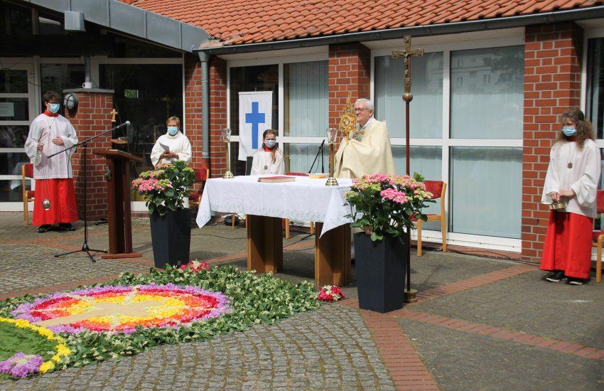 Fronleichnams-Gottesdienst in St. Marien-Baukau. 3.Juni 2021