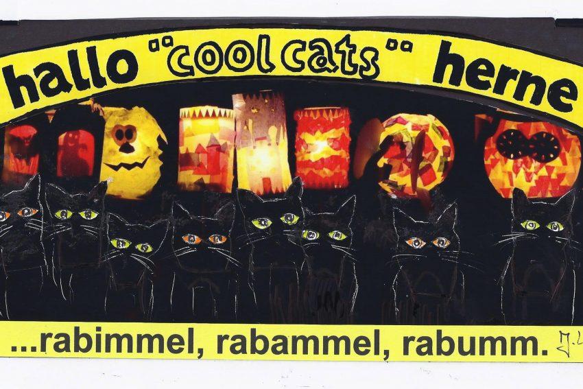 Die coolcats mischen sich unter die Martinsumzüge