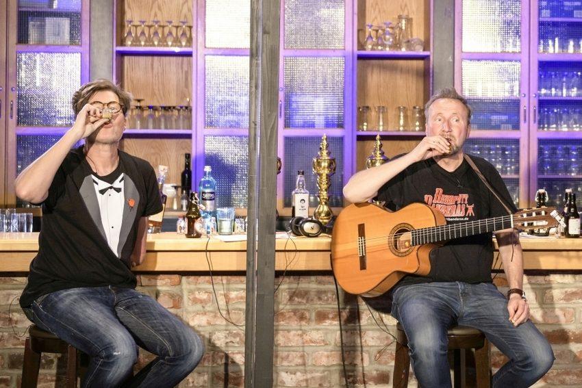 Krypto Show mit Likörchen: v. l. Martin Fromme, Helmut Sanftenschneider.