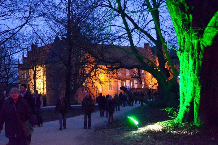 Lichterwald am Schloss.