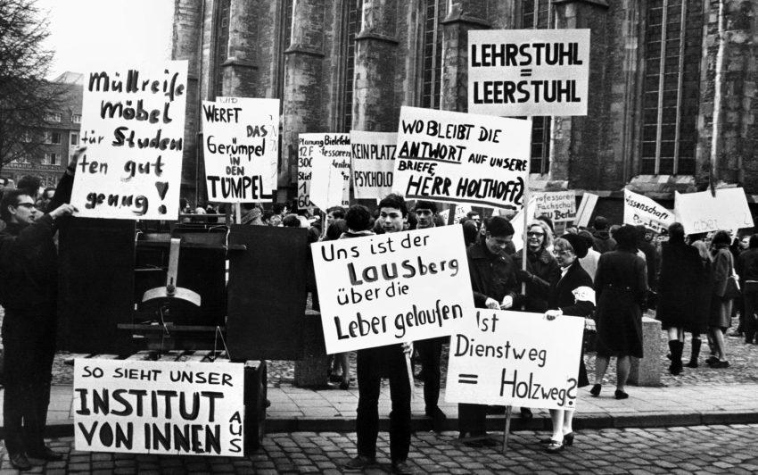 Studentenprotest am 1. Februar 1968.