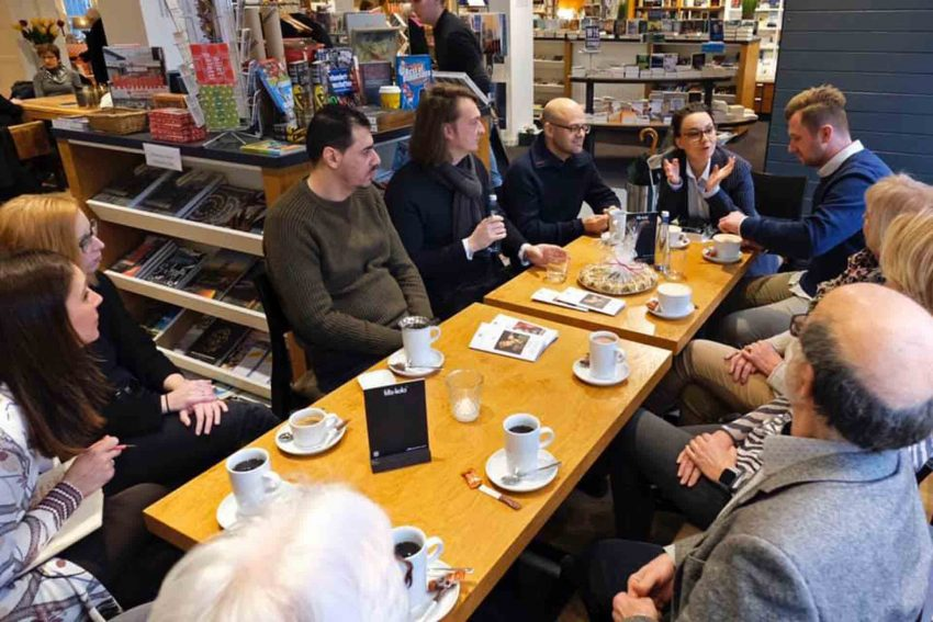 Kaffeetafel mit Michelle Müntefering im Literaturhaus.