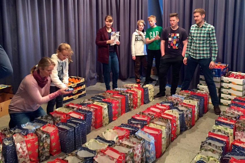 Weihnachtsfeier des CVJM für alleinstehende 2018.