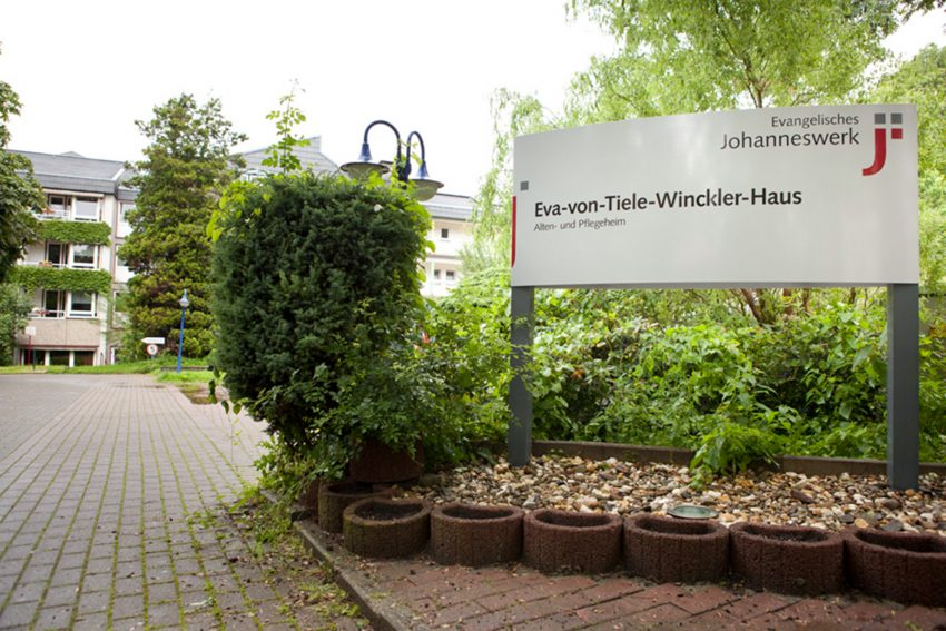Eingang des Eva-von-Tiele-Winkler Haus.