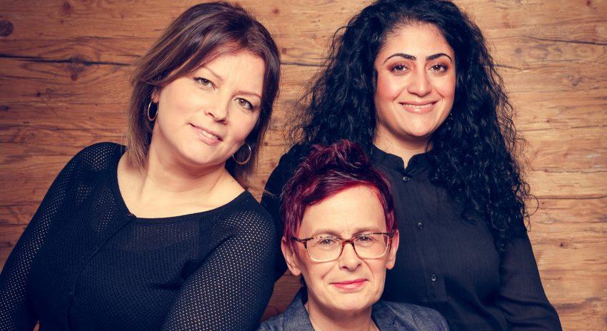 v.l. Fadime Topcu, Andrea Blazejak und Lale Sayar