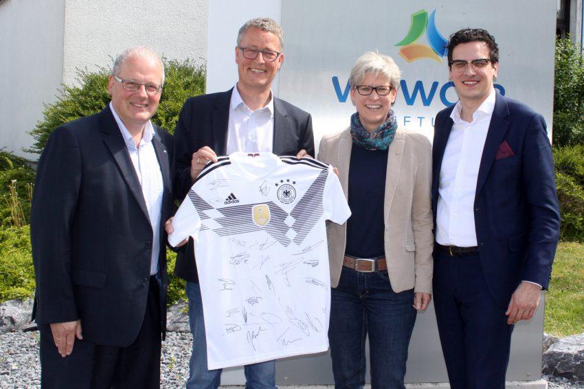 v.l. Andreas Davidheimann, Rochus Wellenbrock, Dr. Regine Schmalhorst, Marvin Boettcher.