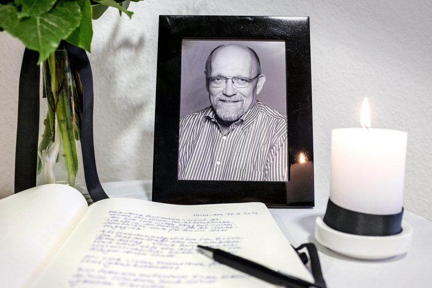 Kondolenzbuch Gerd Bollmann.