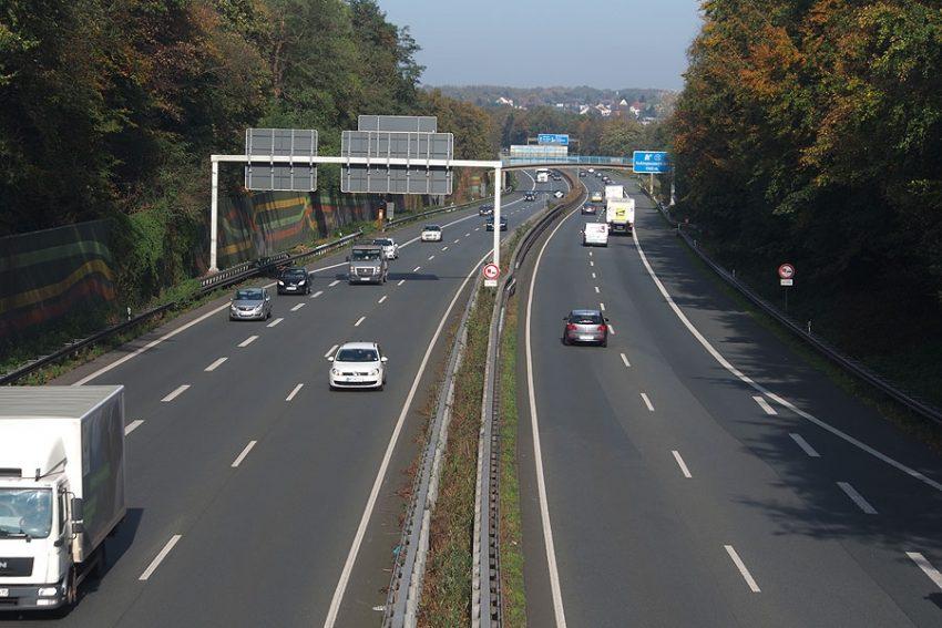 Autobahn A43 Richtung Norden