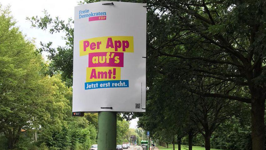 Ein Wahlplakat der FDP Herne.