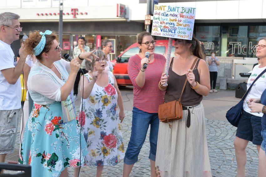 Herner protestieren gegen die