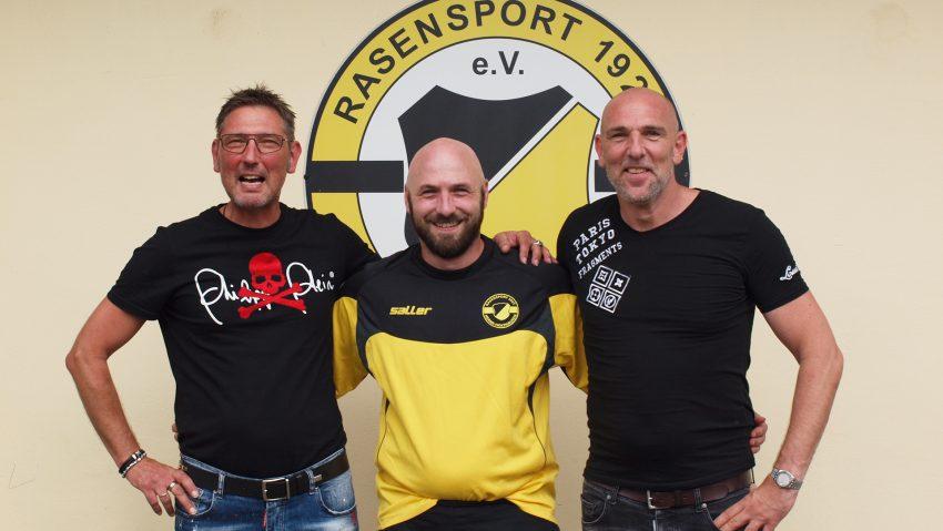 Gemeinsam in die neue Saison: (v.li.) 1. Vorsitzender Thomas Rist, der neue Trainer Marc-André Bach und Sportlicher Leiter Frank Eppler.