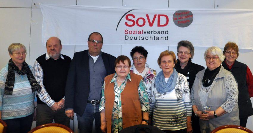 v.l. Hanne Ulbrich, Klaus Röder, Gerd Griese, Lore Röder, Gabi Pyka, Ingrid Fischer, Carola Griese, Rita Höfferling, Rosi Krause