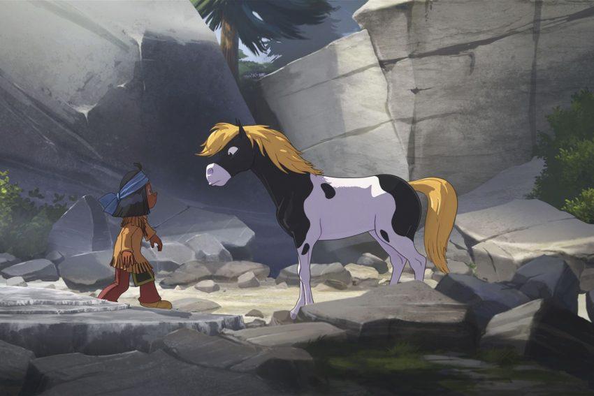 Kinofilm - Yakari: Yakari und Kleiner Donner werden Freunde.
