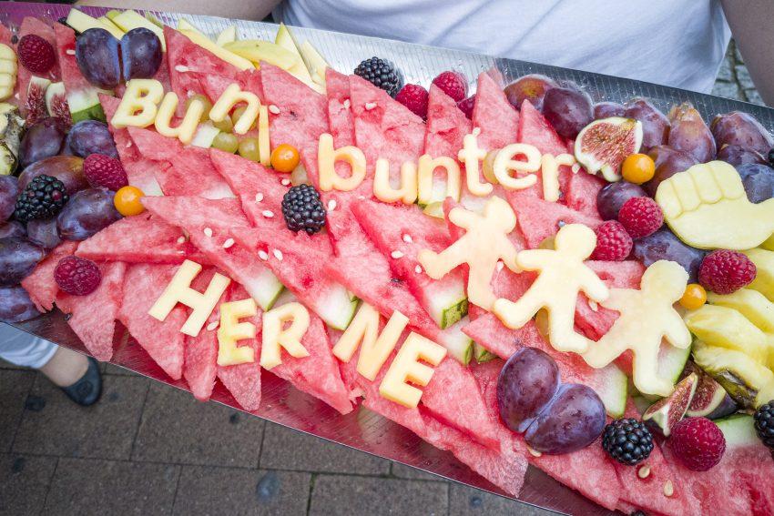 Protestversammlung gegen den Aufmarsch 'besorgter Bürger' auf dem Robert-Brauner-Platz in Herne (NW), am Mittwoch (04.09.2019).Foto: Stefan Kuhn