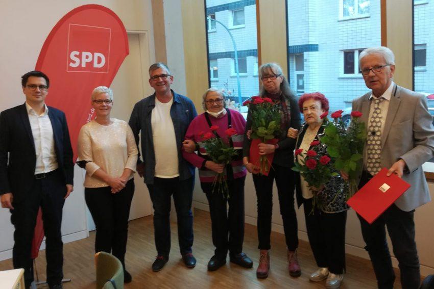 Gefeiert wurden 75-Jahre SPD Ortsverein Horsthausen samt Mitglieder-Ehrung.