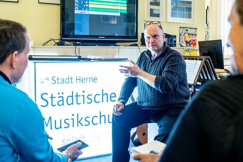 Christian Ribbe erklärt GarageBand.