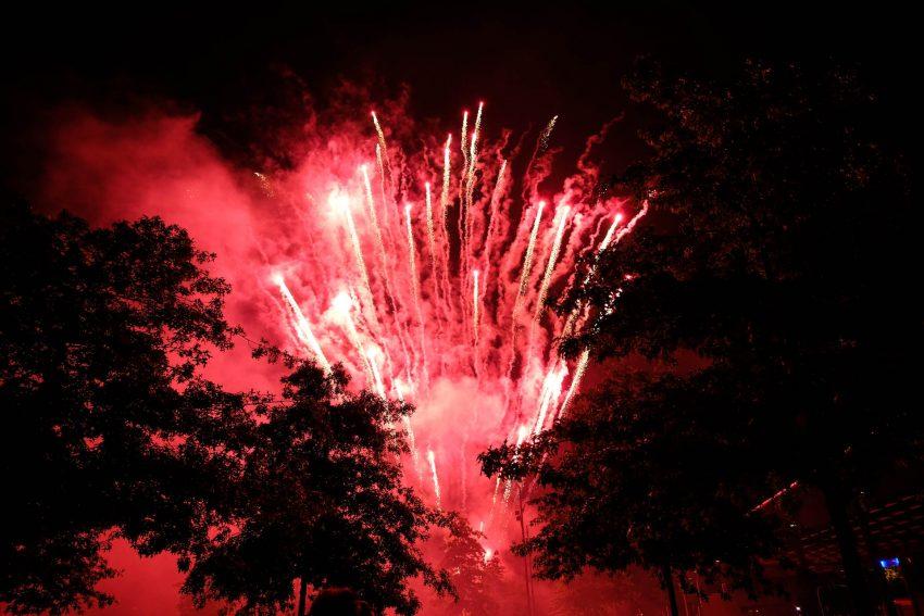 Das Feuerwerk am Freitag.