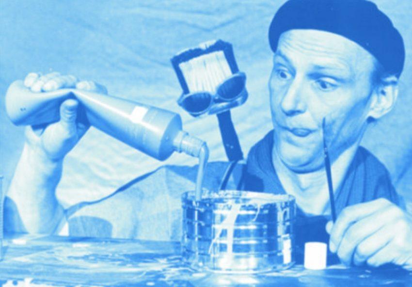 Fussel, Quaste und die Malerei. Theater pappmobil