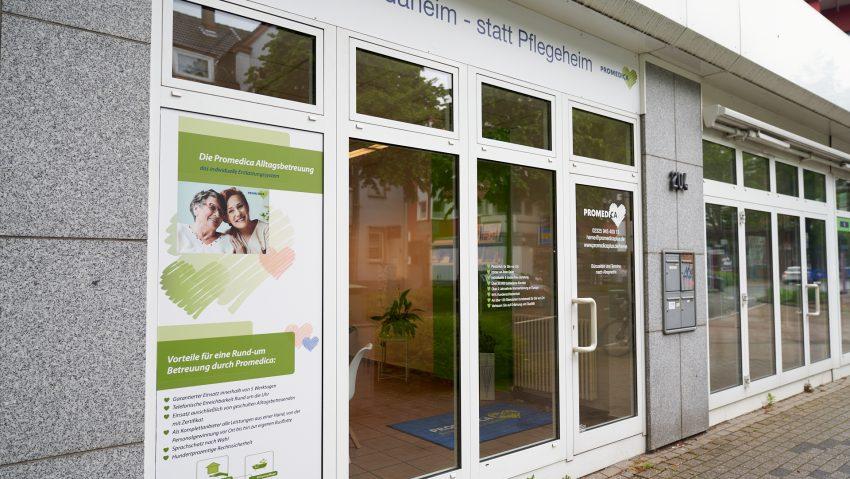 Promedica Plus zieht in das neue Pflegebüro an der Edmund-Weber-Straße.