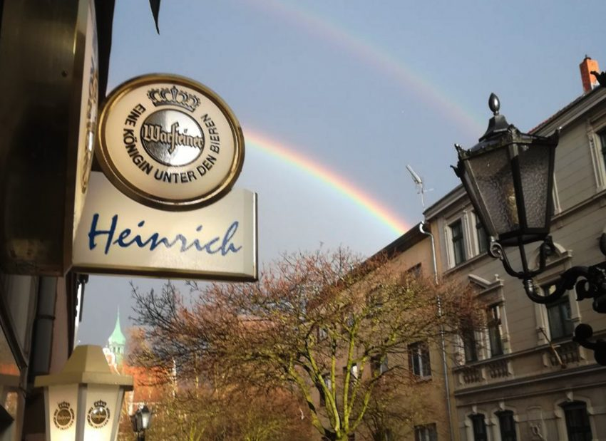 Doppel-Regenbogen in der Heinestraße.
