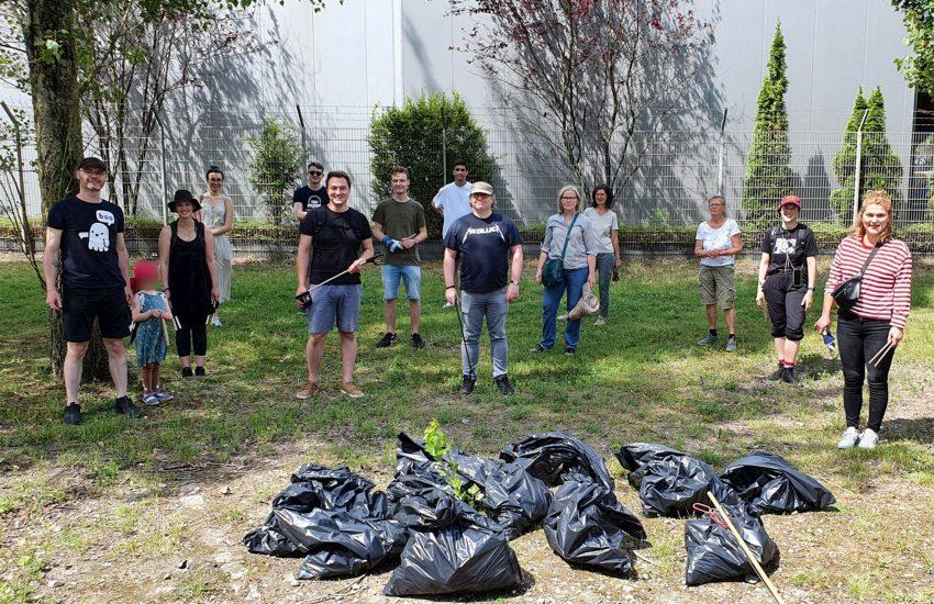 Mitglieder der Grünen Herne starteten gemeinsam mit Freiwilligen eine Müllsammel-Aktion.
