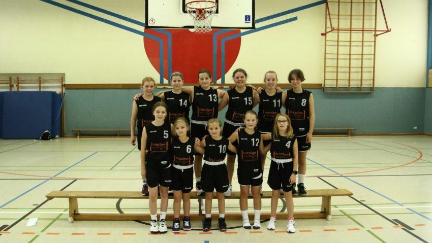 Die weibliche U12 der Ruhrpott Baskets Herne im Oktober 2021.