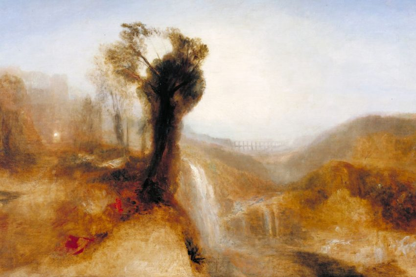 William Turner Ausstellung in Münster: Southern Landscape with an Aqueduct and Waterfall, 1828.