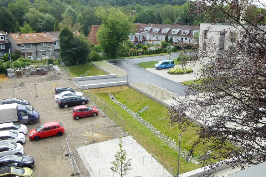 Parkplatz für Studierende am Ausbildungs-Campus der Elisabethgruppe.