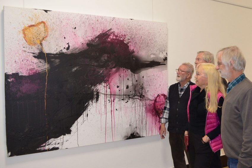 v.l. Rolf Pötter, Reiner Glebsattel, Gisela Collenburg und Heiner Krämer