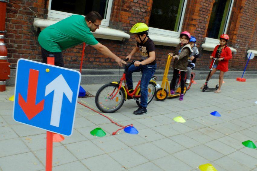 Fahrrad-Parcours.