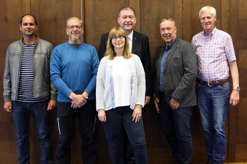 v.l. Dennis Meyke, Lars Steinhilb, Geschäftsführer Martin Klinger, Sabine Meißner, Thomas Thiehoff, Jan Noot.