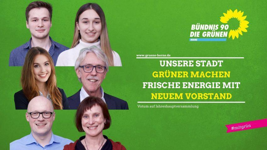 Neu gewählter Parteivorstand der Herner Grünen vom 12.2.2021.
