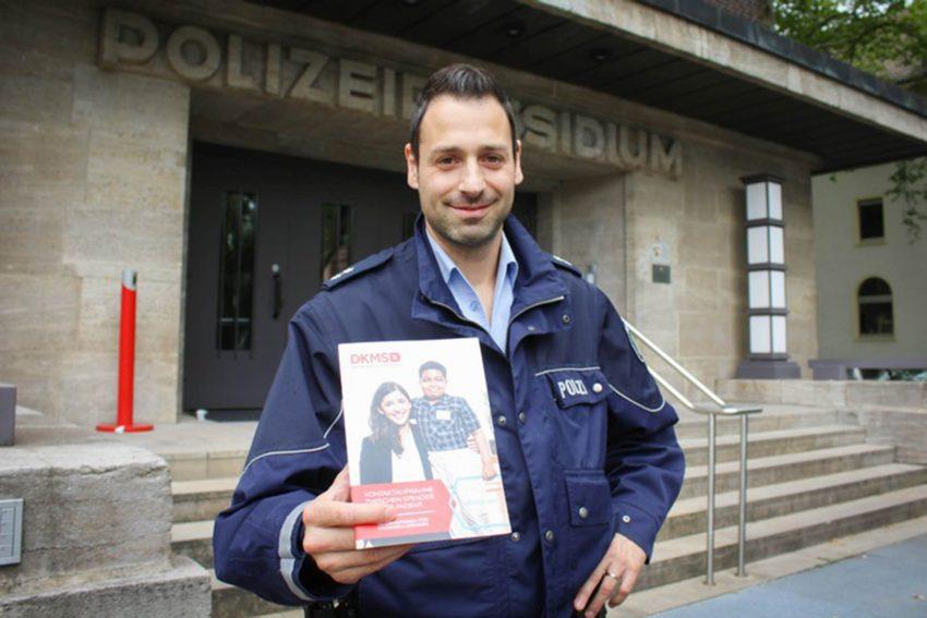 Stephan Hornberger (32) hat Stammzellen gespendet.