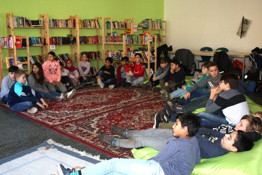 Vorlesetag in der Mont-Cenis-Gesamtschule.