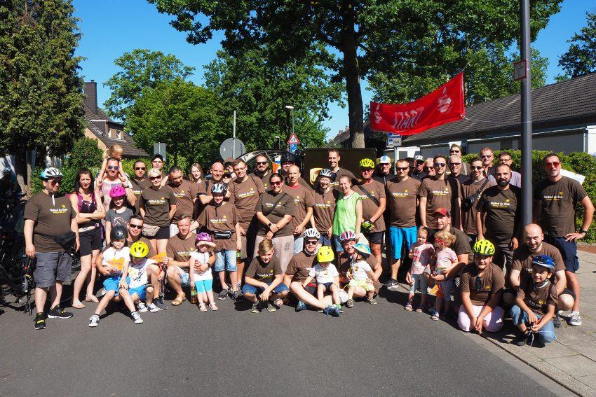 Über 50 Teilnehmer von UPS nahmen am Radeln für da Lukas-Hospiz teil.