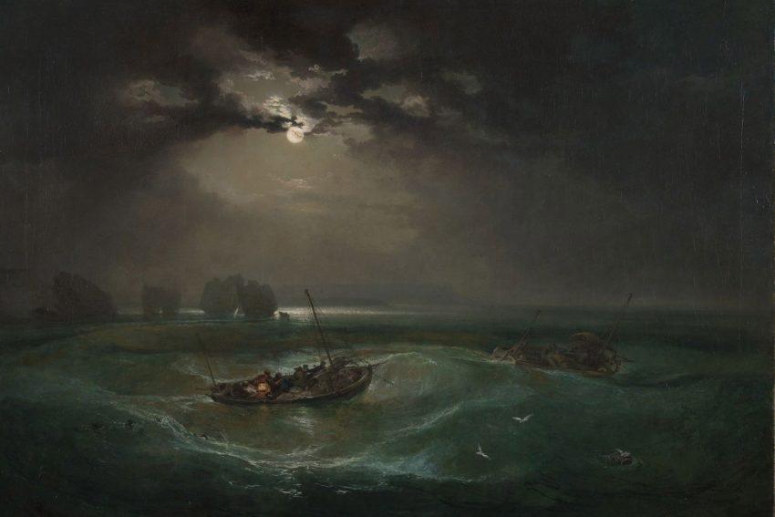 William Turner Ausstellung in Münster: Fishermen at Sea, Exhibited 1796.