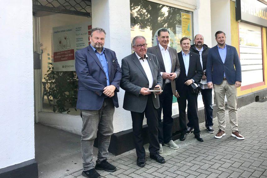 v.l. Karlheinz Friedrichs, Gisbert Schlotzhauer, Udo Sobieski, Mathias Grunert, Matthias Bluhm und Marc Schaaf.