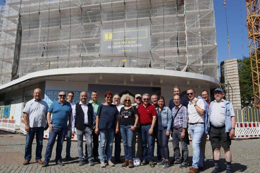 Die SPD-Ortsvereine im Stadtbezirk Herne-Mitte besuchten die Baustelle der Landmarken AG