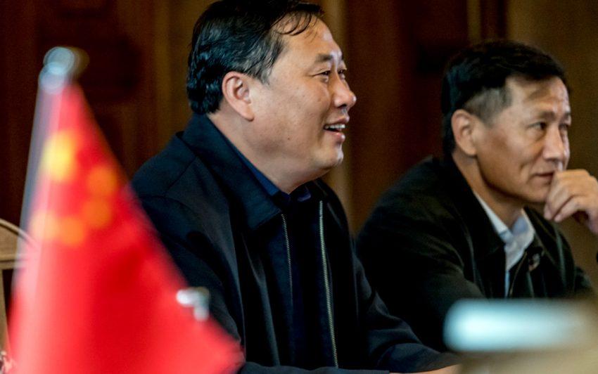 Frank Dudda mit Liu Xudong.