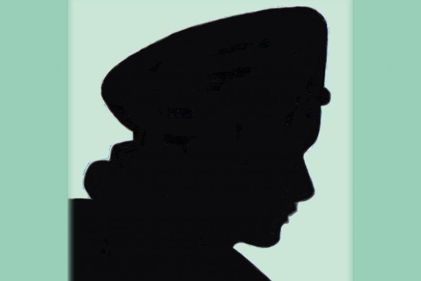 Titel der Textsammlung - Prominente Portraits - mit einem Scherenschnitt von Ilse Straeter.
