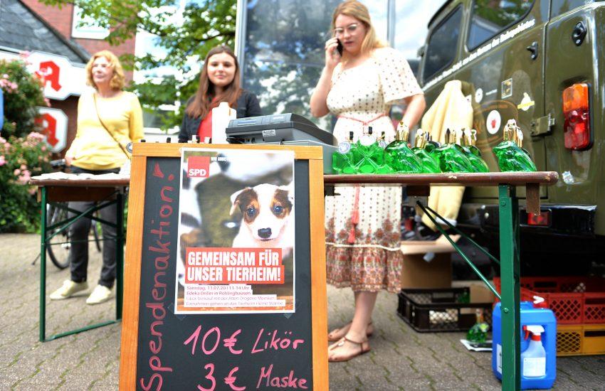 Tierische Sonderedition mit Likören der Alten Drogerie Meinken zugunsten des Tierheims Herne Wanne.