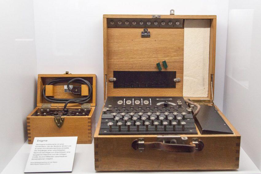Die Verschlüsselungsmaschine in der Ausstellung